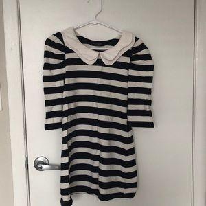 Navy-strip dress